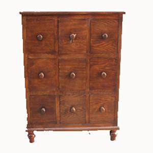 Aparador de madera con cajones for Muebles con cajones de madera