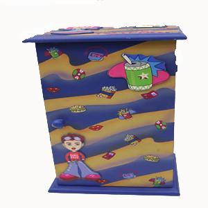 Caja con dibujos infantiles
