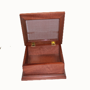 Caja de madera VIRGEN DE LAS MERCEDES abierta