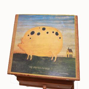 Cajita de madera con cajón vista superior
