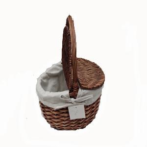 cesta de mimbre con tapa y asa