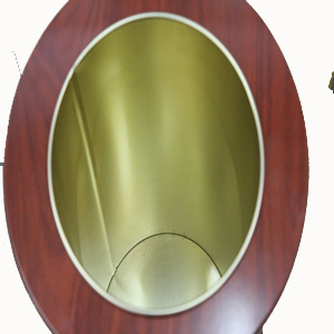 Interior paragüero redondo adornado
