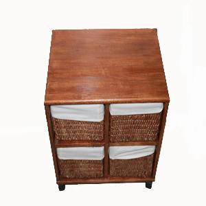 Mueble de madera con cajones de mimbre - Cajones de mimbre ...