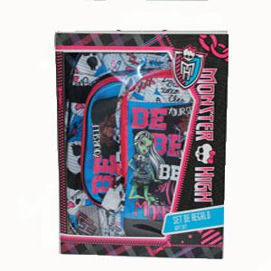 Set de regalo bolsa y zapatillero Monster High