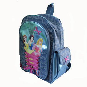 Vista lateral mochila Princesas