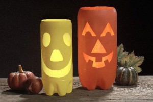 como hacer portavelas de halloween
