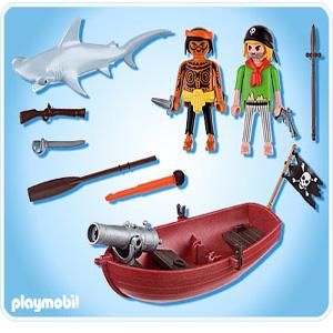 Playmobil piratas y tiburon 2